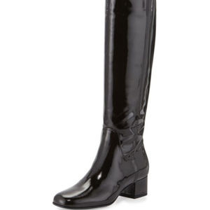 NWOT Aquatalia Larkin Crosshatch Patent Knee Boot
